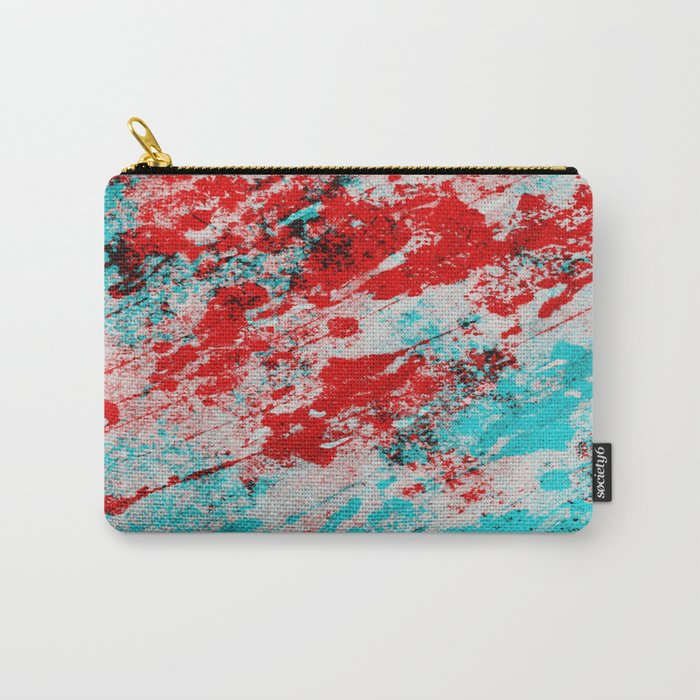 Red Fury - Abstract In Blue And Red Carry-All Pouch