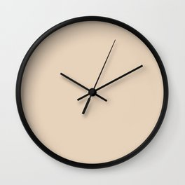 Novelle Peach Double Spanish White Wall Clock
