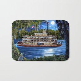 Mystcal Moonlight Cruise Down the Bayou Bath Mat