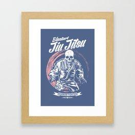 Jiu jitsu Horror Fighter Framed Art Print