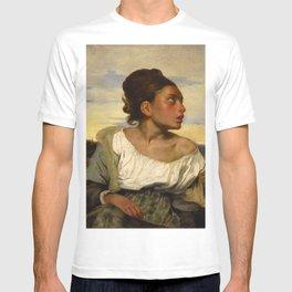 """Eugène Delacroix """"Jeune orpheline au cimetière (The Orphan Girl at the cemetery)"""" T-shirt"""