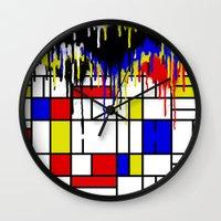 mondrian Wall Clocks featuring MONDRIAN by DIVIDUS