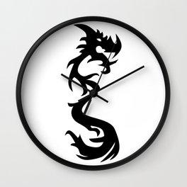 Dragon Silhouette 1 Wall Clock