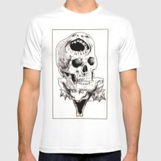 The Laughing Dragon MEDIUM White Mens Fitted Tee