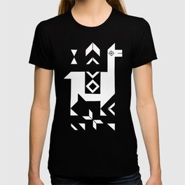 Llamas_Fuchsia stripes T-shirt