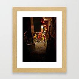 Jiufen Old Street Framed Art Print