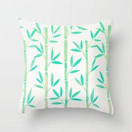 Bamboo Stems – Mint Palette Throw Pillow