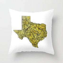 Yellow Texas Throw Pillow