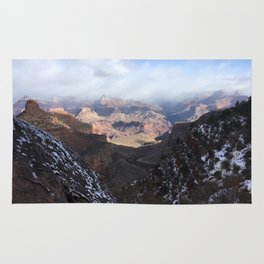 Cloudy Grand Canyon Morning Rug