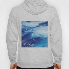Blue Ocean Water Waves Hoody