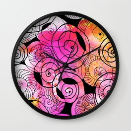 messy spirals Wall Clock