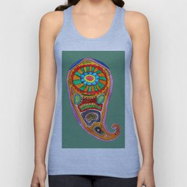 Colourful Paisley Unisex Tank Top