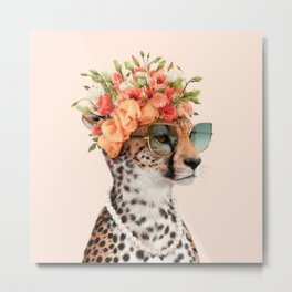 ROYAL CHEETAH Metal Print