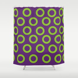 Fishman Donuts Purple and Green Donuts Shower Curtain