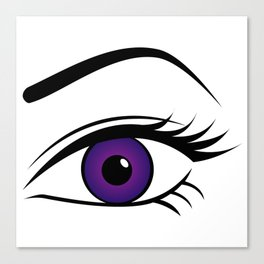 Violet Left Eye Canvas Print