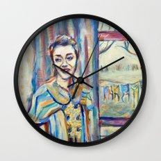 Smile Girl Wall Clock