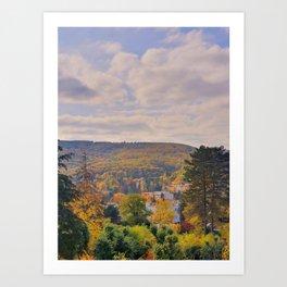 Brno - Autumn view from Stiassni Villa Art Print
