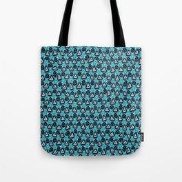 Distorted blue triangular Tote Bag