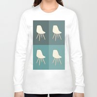 eames Long Sleeve T-shirts featuring Eames x 4 #3 by bittersweat