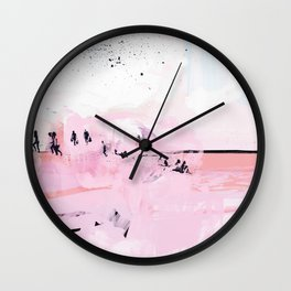 Peach Beach Wall Clock