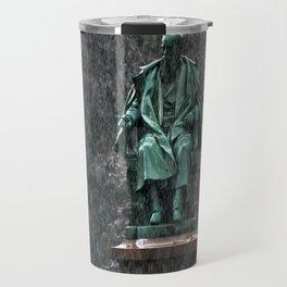Monument in the rain | Denkmal im Regen Travel Mug