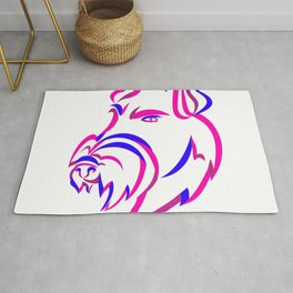 Manchester Terrier Ribbon Art Rug