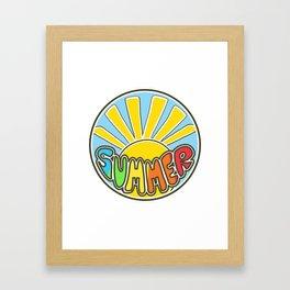 Summer ticker, Summer design, beach sticker, colorful Framed Art Print