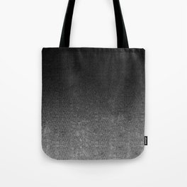 Silver & Black Glitter Gradient Tote Bag