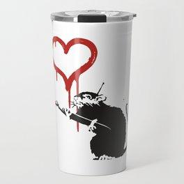 Love rat - Banksy Graffit Travel Mug