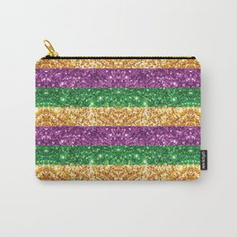 Purple Green and Gold Glitter Stripes #society6 Carry-All Pouch