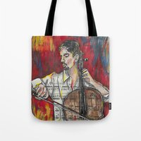 cello Tote Bags featuring Cello 1 by Ed Rucker