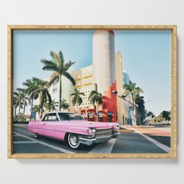 Pink Cadillac , Miami Beach Florida Serving Tray