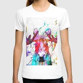 Moose Watercolor Grunge T-shirt