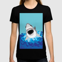 Great White Shark Attack T-shirt