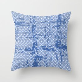 Abstract texture on small scalllops in serenity blue Throw Pillow