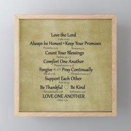 Christian Faith Family Rules w/Scripture Reference Framed Mini Art Print