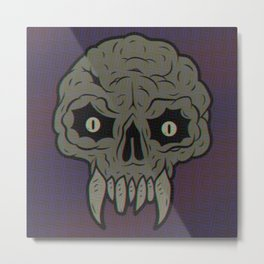 MAGIC SWAMP BLACK MANA SKULL Metal Print