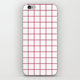 Grid Pattern - red and white - more colors iPhone Skin