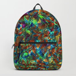 Floral Abstract Stained Glass G290 Backpack