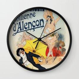 Folies Bergère 1893 Emilienne d'Alencon Wall Clock