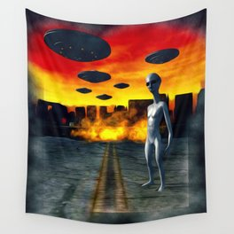 Battlefield Earth - UFO Invasion Wall Tapestry