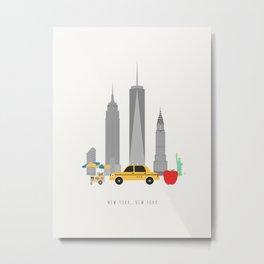 New York City, NYC Skyline Metal Print