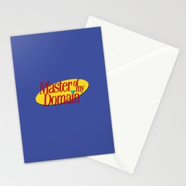 Master of my domain Stationery Cards