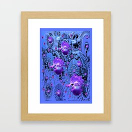 Amethyst Purple Gems Iris Fantasy  Abstract Art Framed Art Print