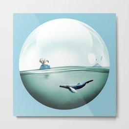 Whale bubble Metal Print