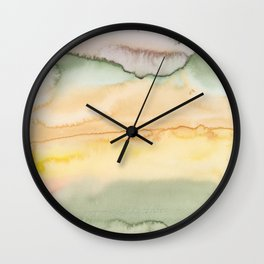 17   | Abstract Minimal Watercolor Painting | 191223 Wall Clock
