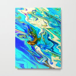 Oil Spill Metal Print