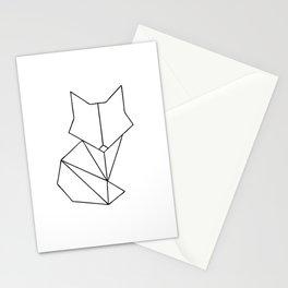 Geometric Fox - Black Stationery Cards