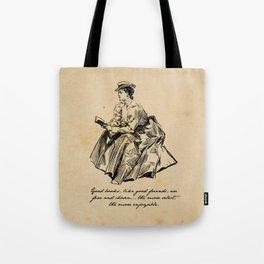Lousia May Alcott - Good Books Tote Bag