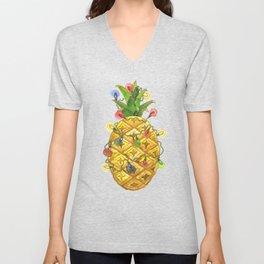 The Christmas Pineapple Unisex V-Neck